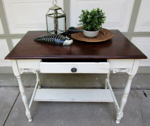 TODAY SALE - ANTIQUE SHABBY CHIC TABLE/DESK
