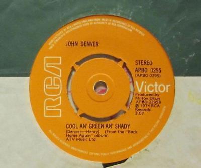 "John Denver(7"" Vinyl)Cool An Green An Shady-RCA Victor-APBO 0295-UK-197-VG/G"
