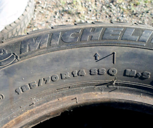 Michelin 185/70/R14 Winter Tires  $250 set of 4