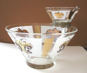 Vintage Glass Chip and Dip Bowl Set