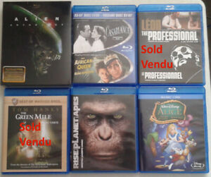 Films BluRay Movies, SET 2 perfect condition