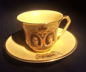 KING GEORGE VI & QUEEN ELIZABETH COMMEMORATIVE CUP & SAUCER