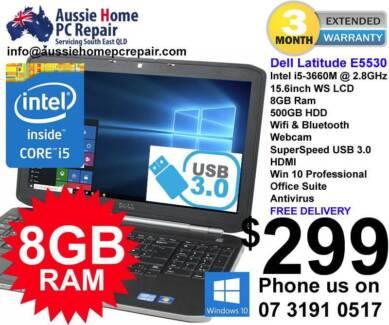 8GB RAM, I5 CPU, HDMI, USB 3, LED LCD, WIN 10 PRO, WRNTY!