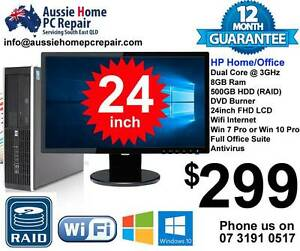 "24"" WIDESCREEN LCD, 8GB RAM, 500GB HDD, WIFI, WIN 7 or 10. Bethania Logan Area Preview"
