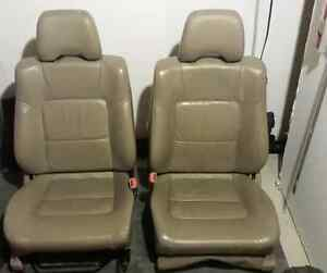 Tan Leather Bucket Seats