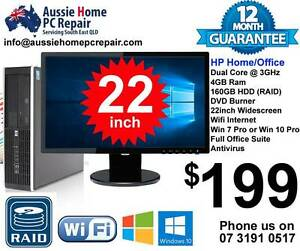 22' WIDESCREEN LCD, FULL PACKAGE, WIFI, WIN 7 OR 10, OFFICE SUITE Bethania Logan Area Preview