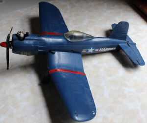1970s Cox Gas Airplane Toy - Control Line Vintage Corsair Plane