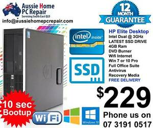 ULTRA FAST SSD DRIVE. WIFI, BLUETOOTH, OFFICE SUITE, WIN 7 OR 10 Bethania Logan Area Preview