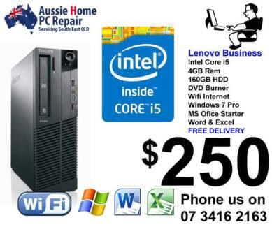 i5, Win 7/10 Pro, Wifi, Word & Excel, Antivirus +3mth Warrant Loganlea Logan Area Preview