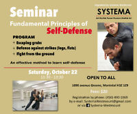 SELF-DEFENSE : be prepared for unexpected situations