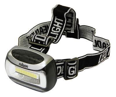 Rolson 3W COB LED Head Lamp Light Torch - Running Hiking Fishing Camping