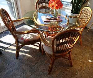 Rattan, wicker, rotin table set