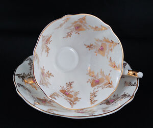 Queen Anne Collectible 1960's Thistle Blossom # 5748 Teacup Set