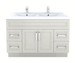 Contemporary bathroom vanity with faucets - brand new