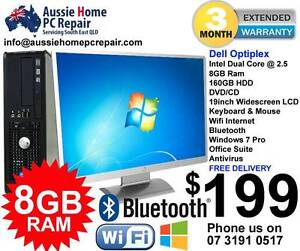"HUGE 8GB RAM, 19"" WIDESCREEN LCD, WIFI, WIN 7 PRO, OFFICE SUITE Bethania Logan Area Preview"