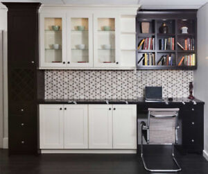 Off White and Espresso solid wood kitchen on Christmas SALE!!