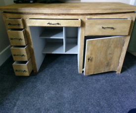 Solid wood chest of drawers / office - storage desk