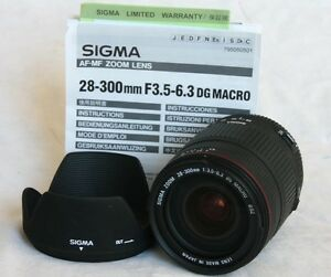 Sigma 28-300mm lens for Canon