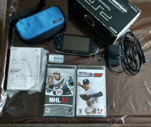 Mint Condition Sony PSP w/ Case + 2 games + 1GB Memory Stick