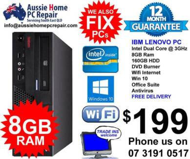 HUGE 8GB RAM, WIN 7 OR 10 PRO, OFFICE SUITE, ANTIVIRUS.