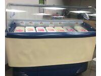 ISA Samoa Range Ventilated Scoop Ice Cream freezer, 7 ice cream choices
