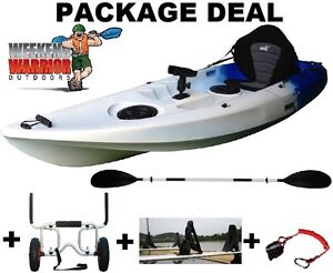 Fishing Kayak Package with Trolley, Roof Cradles, Seat, Paddle ++ Erina Gosford Area Preview