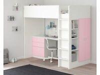 Ikea stuva desk/wardrobe loft bed