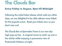 The Clouds Bar, Spinnaker. Tickets for two people