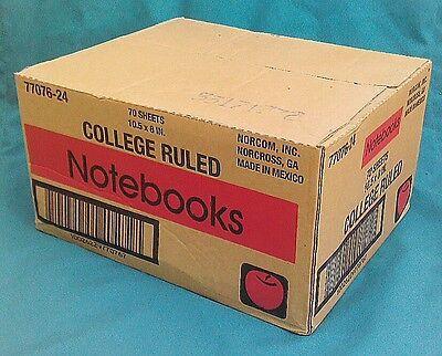 NORCOM NOTEBOOKS -1- SUBJECT 70 SHEETS-  24 PC/BOX