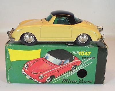 Nutz Schuco Nr. 1047 Micro Racer Porsche 356 ocker Neuauflage Replica OVP #1340