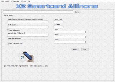 EMV X2 2021 Smart Card Chip Software SMARTCARDALLINONE ARQC