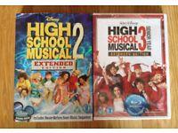 HIGH SCHOOL MUSICAL DVD'S 2 & 3 FILM