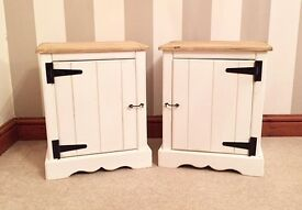 Hand Made Pine Country Shabby Chic Bedside Tables***ONLY £119***