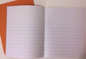 2x Picture Writing Half Lines/Plain Exercise School Infant KS1 News Book Kids