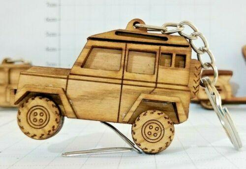 Keychain fit Land Rover Defender Car wooden handmade Keyring jeep ,SUV key tag
