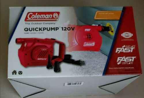 Coleman QuickPump 120v Inflate Deflate Fast Airbeds and other inflatables