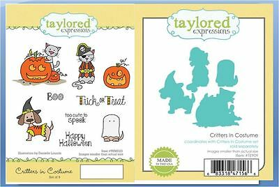 Taylored Expressions Stamp Die Combo ~ CRITTERS IN COSTUME Halloween ~TEMD23/909 - Halloween Expressions