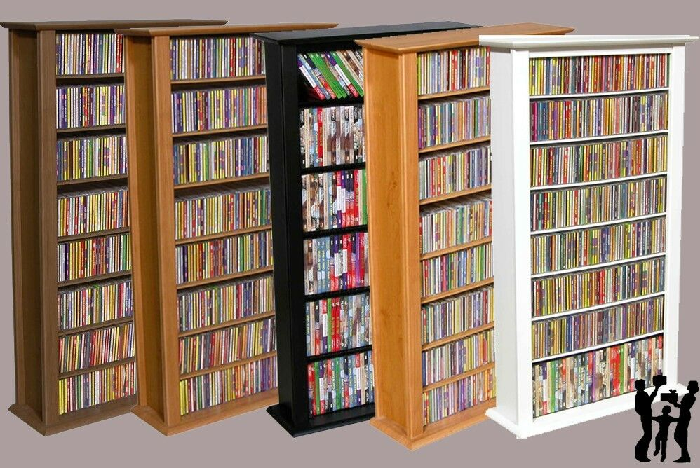 Venture horizon 464 cd 234 dvd tower dvd cd storage rack In wall dvd storage
