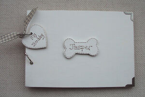 PERSONALISED-PET-DOG-A5-SIZE-PHOTO-ALBUM-SCRAPBOOK-MEMORY-BOOK-ANY-NAME-ADDED
