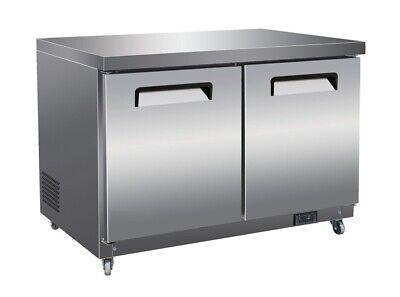 61 2-door Commercial Undercounter Worktop Refrigerator Brand New Free Ship