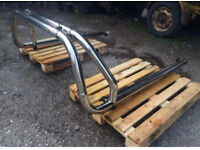 Pick up chrome roll bar