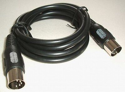 MIDI Câble Câble MIDI 1,5m noir 10 Stk 5-POLIG Câble Audio câble vidéo ST/ST