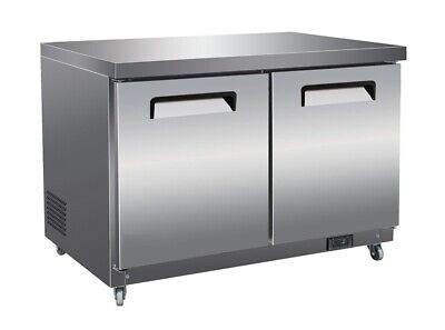 61 2-door Commercial Undercounter Worktop Freezer Brand New Free Shipping