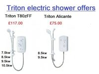 BRAND NEW TRITON ELECTRIC SHOWERS