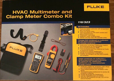 Fluke 116323 Hvac Combo Kit  New In Box  Msrp 285