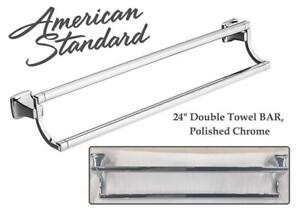 NEW American Standard 7353224.002 Townsend 24 Double Towel BAR, Polished Chrome Condtion: New, Polished Chrome