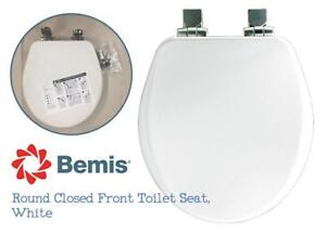 NEW Bemis 9170NISL 000 Slow Close Round Closed Front Toilet Seat, White Condtion: New