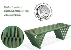 NEW GloDea Furniture XQBC60YPAG Bench X60, Alligator Green Condtion: New, Alligator Green