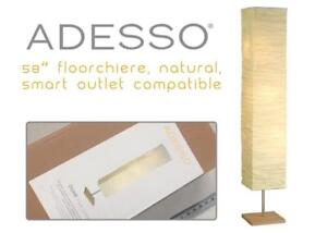 NEW Adesso 8022-12 Dune 58 Floorchiere, Natural, Smart Outlet Compatible Condtion: New, Floor