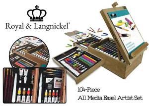 NEW Royal  Langnickel 345835 104-Piece All Media Easel Artist Set Condtion: New, Original Version